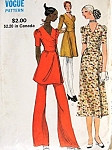 1970s Pretty Dress and Wide Leg Pants Pattern Miss Vogue 7892 Vintage Sewing Pattern Side Wrap Tunic, Mini or Midi Dress Puff Sleeves Lovely Style Bust 32.5