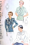 1930s Art Deco OverBlouse Pattern 3 Stunning Blouse Styles Day or Evening Simplicity 1790 Vintage Sewing Pattern Bust 40 FACTORY FOLDED