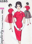 1960s Mad Men Slim Dress and Over Skirt Pattern Simplicity 4185 Vintage Sewing Pattern Day or Evening Party Dress Bust 36 FACTORY FOLDED