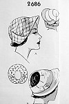 1950s Fabulous Hats Pattern Two 1930s Inspired Styles Cloche or Sun Hat With Brim Vintage Sewing Pattern