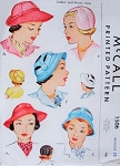 Late 40s Fabulous Hats Pattern McCall 1506 Vintage Sewing Pattern 3 UNIQUE Styles Brimmed,Cloche and Adjustable Sun Hats UNCUT FACTORY FOLDED