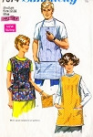1960s His and Hers Aprons Simplicity 7974 Work Shop Apron, Cobbler Apron, Kitchen Apron, Bib Apron, Barbeque Aprons Simple To Sew Vintage Sewing Pattern