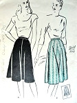 1940s Four Gore Skirt Pattern Butterick 3800 Graceful Circular Quick n Easy Skirt  Waist 26 Vintage Sewing Pattern