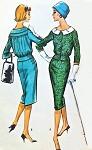 1950s Suit or Suit Dress Pattern McCalls 4706 Pencil Slim Skirt Lovely Bloused Back Jacket Bust 34 Vintage Sewing Pattern