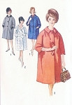 1960s Raglan Sleeve Coat Pattern Simplicity 4669 Classy Day or Evening Coat Bust 31.5  Vintage Sewing Pattern FACTORY FOLDED