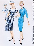 1950s Sizzling Sheath Dress and Bolero Jacket Pattern McCalls 4886 Figure Show Off Slim Dress Curved Front Short Jacket Daytime or Cocktail Party Bust 34 Vintage Sewing Pattern