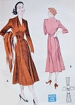 1950s Stunning Dress Pattern Butterick 5454 Day or Cocktail Evening Draped V Neckline Gored Skirt with Low Flares Beautiful Style Bust 34 Vintage Sewing Pattern FACTORY FOLDED