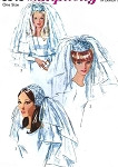 60s Beautiful Bridal Headpieces and Veils Pattern Simplicity 6846 Three Styles Pillbox Cap Ring Headpieces Fingertip Layered Veil Vintage Sewing Pattern FACTORY FOLDED