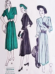1940s Dress Pattern Butterick 4301 Classy Decorative Dart Detail Dress For Petites Lovely Details Bust 32 Vintage Sewing Pattern