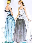 1940s Beautiful Evening Dress Pattern McCall 6834 Sweetheart Neckline Evening Gown Bust 32 Vintage Sewing Pattern