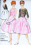 1950s Evening Cocktail Party Dress Pattern McCalls 4730 Sybil Connolly Exclusive Design Princess Dress and Jacket Bust 34 Vintage Sewing Pattern