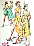 1950s Playsuit and Skirt Beachwear Pattern McCalls 3919 Cute Rompers Swimsuit and Flared Skirt Bust 32 FACTORY FOLDED