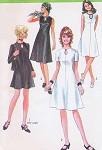 70s Simplicity 9204 Vintage Sewing Pattern KEYHOLE neckline Flared Dress Regular or Mini Length Retro Style Vintage Sewing Pattern Bust 34 FACTORY FOLDED