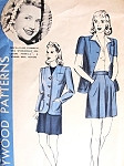 1940s Shorts and Jacket Pattern Hollywood 655 Featuring Priscilla Lane Flattering High Waist Shorts Fitted Blazer Jacket Bust 34 Vintage Sewing Pattern