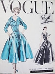 1950s RARE Sybil Connolly Evening Gown Cocktail Dress Pattern Vogue Couturier Design 926 Stunning Portrait Neckline Fitted Bodice Full Beautiful Skirt Bust 36 Vintage Sewing Pattern FACTORY FOLDED + Label