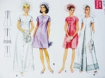 Mod 1960s Lovely Bridal Gown Wedding Dress Bridesmaid Dress Pattern Butterick 4694 Two Lengths, Bust 31.5 Vintage Sewing Pattern FACTORY FOLDED