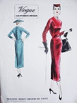 1950s Elegant Slim Dress Pattern VOGUE COUTURIER DESIGN 776 Beautiful Details Day or Cocktail Dress Bust 32 Vintage Sewing Pattern + Vogue Label
