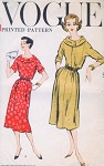 1950s Classy Easy To Sew Dress Pattern Vogue 9391 Two Lovely Neckline Styles Bust 32 Vintage Sewing Pattern