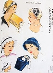 1950s Beautiful Theatre Evening or Day Hats and Bags Purse Pattern McCalls 1774 Four Chic Styles Includes Fascinator Design Vintage Sewing Pattern FACTORY FOLDED