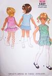 1970s ADORABLE Little Girls Toddlers Drop Waist Dress Pattern McCalls 2372 Vintage Sewing Pattern UNCUT
