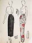 1940s Stunning Day or Evening Skirt Pattern Butterick 4701 Slim Five Gore Skirt Front  Slit Elegant Style Waist 28 Quick n Easy Vintage Sewing Pattern