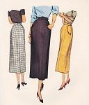 1940s Stylish Slim Skirt Pattern McCall 7897 Four panel Skirt Waist 28 Vintage Sewing Pattern