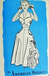 Beach Wear Pattern American Weekly 3841 Crop Midriff Top High Waist Shorts and Flared Skirt Weekend Resort Wear Bust 32 Vintage Sewing Pattern