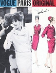 1960s Elegant LANVIN Suit and Blouse Pattern Vogue Paris Original 1213 Short Jacket Slim Skirt Surplice Wrap Blouse Daytime or Evening Wear Bust 32 Vintage Sewing Pattern FACTORY FOLDED
