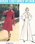1970s FABIANI Stylish Coat Pattern Vogue Couturier Design 2780 Fabulous Style Bust 34 Vintage Sewing Pattern