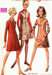 1960s Mod Jumper or Dress Pattern SIMPLICITY 7758 Flattering Princess Seam Front Zipper Bust 32.5 Vintage Sewing Pattern FACTORY FOLDED