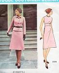 1970s Elegant Jo Mattli Empire Dress and Jacket Pattern VOGUE COUTURIER DESIGN 2516 Jewel Neckline A Line Dress Loose Fitted Jacket Bust 34 Vintage Sewing Pattern FACTORY FOLDED