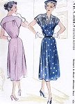 1950s Beautiful Dress Pattern McCALLS 8578 Daytime or Afternoon Dinner Dress Perfect For Sheer Fabrics Bust 34 Vintage Sewing Pattern FACTORY FOLDED