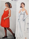 1960s Mod JEAN MUIR Empire Evening Gown Cocktail Dress Pattern BUTTERICK 4529 Lovely Shaped Neckline Empire Party Dress Bust 32 Vintage Sewing Pattern FACTORY FOLDED