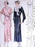 1930s Stunning Dress Pattern McCALL 7400 Two Downton Abbey Gorgeous Styles Day or Evening Dramatic Sleeves Bust 42 Vintage Sewing Pattern