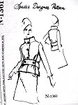 1960s Striking Tiffeau Busch Suit Pattern SPADEA DESIGNER N-1361 Flattering Stand Up Collar Jacket Chic Design Bust 35 Vintage Sewing Pattern