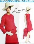 1960s ELEGANT Slim Dress and Jacket Pattern VOGUE COUTURIER Design 1761 John Cavanagh Bust 36 Vintage Sewing Pattern FACTORY FOLDED + Vogue Label