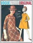 1960s MOD Pierre Cardin Bias Tent Dress Pattern VOGUE PARIS ORIGINAL 1802 Beautiful Design Details  Bust 34 Vintage Sewing Pattern