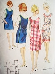 1960s Quick n EASY APRON in 2 Versions Pattern BUTTERICK 3872 Wrap n Tie Style Uncut Factory Folded One Size Vintage Sewing Pattern