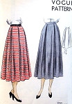 1940s Lovely BOX PLEATED Skirt Pattern VOGUE 6860 Figure Flattering  Easy To Sew Skirt Waist 26 Vintage Sewing Pattern