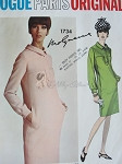1960s  Classy MOLYNEUX Slim Dress Pattern Vogue Paris Original 1734  Straight Dress Daytime or After 5 Bust 34 Vintage Sewing Pattern FACTORY FOLDED