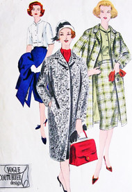 CLASSY 1950s Slim Coat, Skirt and Blouse Pattern VOGUE COUTURIER Design 186 Easy Elegance Bust 36 Vintage Sewing Pattern FACTORY FOLDED