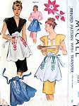 1940s BEAUTIFUL Hostess Apron Pattern McCall 1231 Built Up Waist Very Glamorous, Includes Embroidery Transfer One Size Vintage Sewing Pattern FACTORY FOLDED