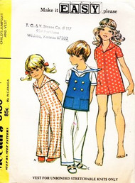 1970s CUTE Childrens Jumpsuit Sailor top and Rompers Pattern McCALLS 3130 Sweet Little Girls or Boys Outfits Size 5 Vintage Sewing Pattern UNCUT