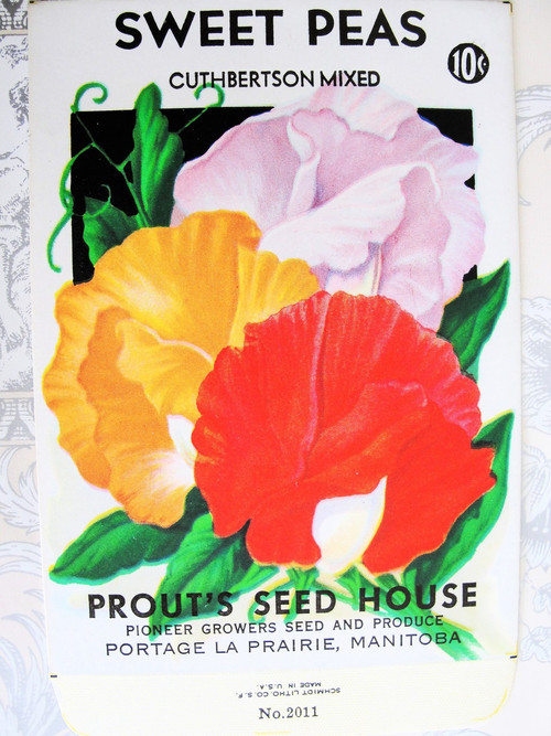 Sweet Peas Seed Packet