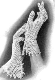 INSTANT DOWNLOAD PDF 1930s Vintage Crocheted Lattice Loop Lace Gloves Pattern Vintage Crochet Pattern Lovely For Bride To Be