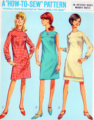 60s MOD Shift Dress Pattern How To Sew SIMPLICITY 7177 Bust 34 Vintage Sewing Pattern UNCUT