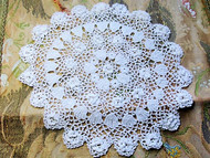 Antique Victorian Fine Irish Crochet Lace Doily Raised Roses Just Beautiful Romantic Cottage Decor