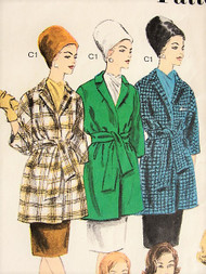 60s CHIC Proportioned Coats Jackets Pattern VOGUE 3017 Four Fab Designs Day or Evening Bust 40 Vintage Sewing Pattern UNCUT