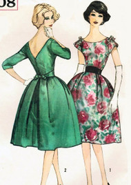 STUNNING Evening Cocktail Party Dress Pattern SIMPLICITY 3708 Eva Saint Marie Hitchcock North By Northwest Movie Bust 36 Vintage Sewing Pattern