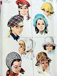 1960s   CUTE Childrens Little Girls  Set of  Hats Pattern SIMPLICITY 7977 Four Sweet Styles Vintage Sewing Pattern FACTORY FOLDED